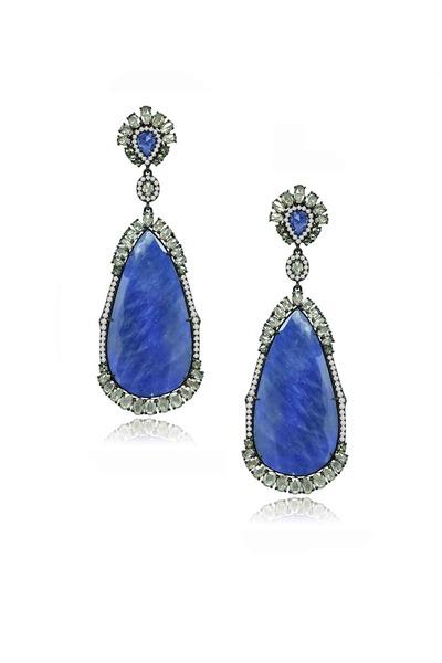 Sutra - Gold Rough Diamond Earrings