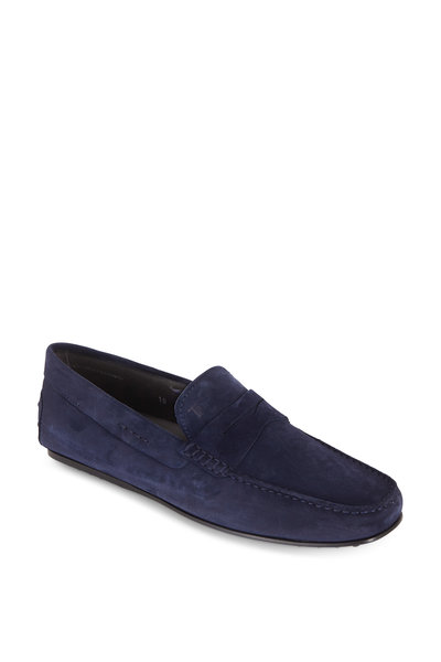 Tod's - City Gommino Navy Blue Penny Loafer
