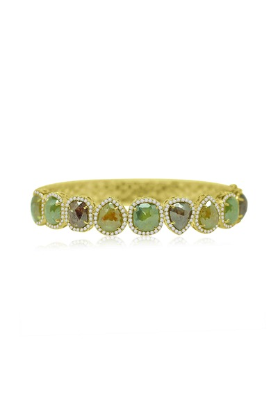 Sutra - Yellow Gold Diamond Line Bracelet