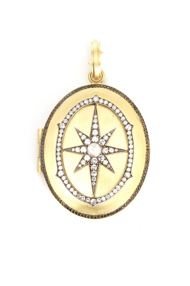 Yellow Gold Diamond Locket