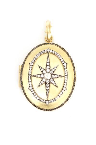 Sylva & Cie - Yellow Gold Diamond Locket