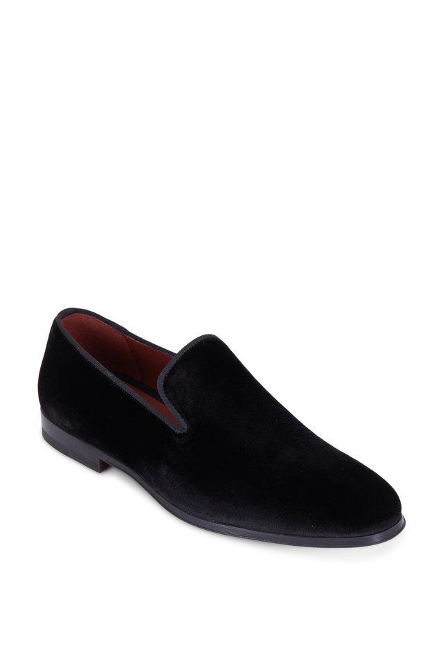 Dorio Black Velvet Venetian Loafer