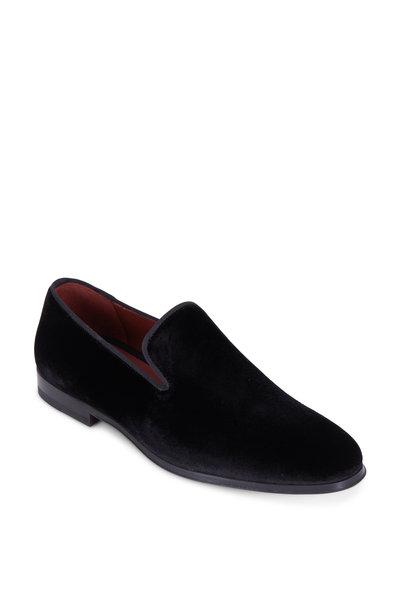 Magnanni - Dorio Black Velvet Venetian Loafer