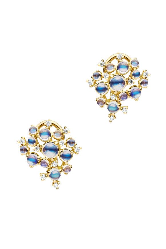 Paul Morelli 18K Yellow Gold Moonstone Bubble Cluster Earrings