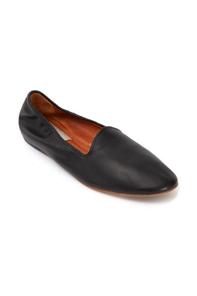 Lanvin - Classic Black Leather Slippers