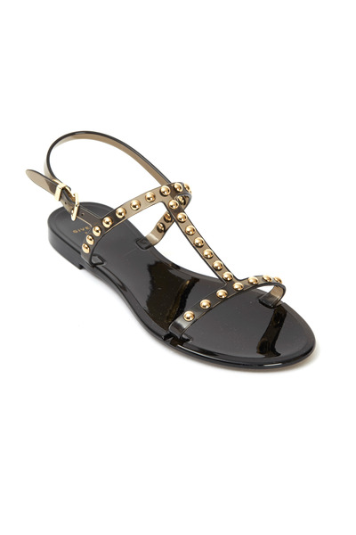 Givenchy - Black Studded Jelly Sandals