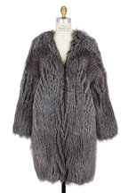 Brunello Cucinelli - Natural Fox Knitted Cashmere Long Coat