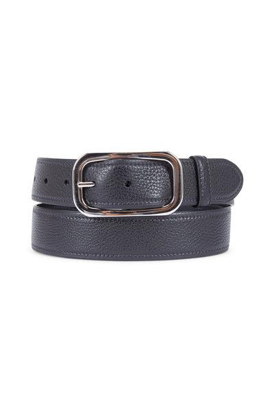 Prada - Black Pebbled Leather Belt