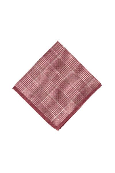 Ermenegildo Zegna - Red Paisley Wool & Silk Pocket Square