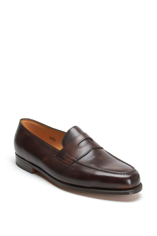 Lopez Dark Brown Leather Penny Loafer