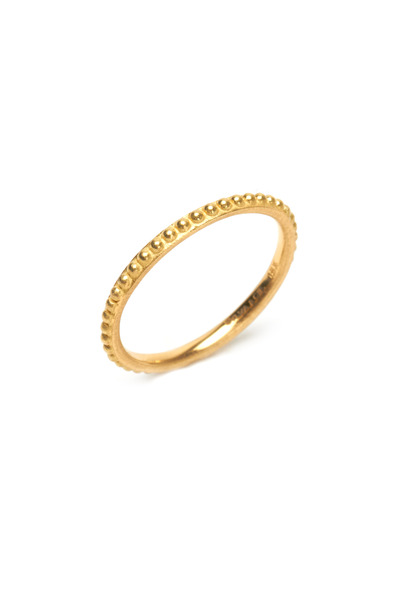 Sylva & Cie - Gold Caviar Stack Ring