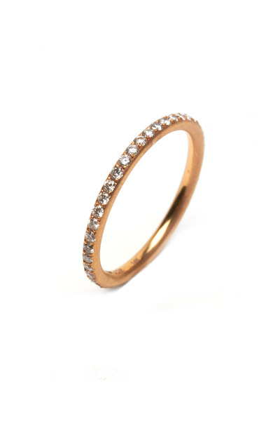 Sylva & Cie - Rose Gold Full-Cut Diamond Band