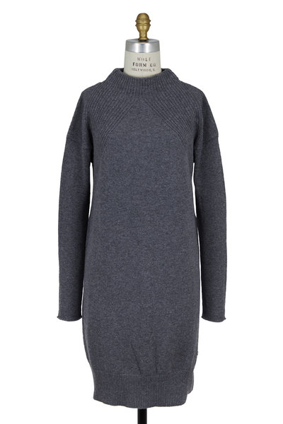 Bogner - Ronia Dark Gray Wool Blend Tunic Sweater Dress
