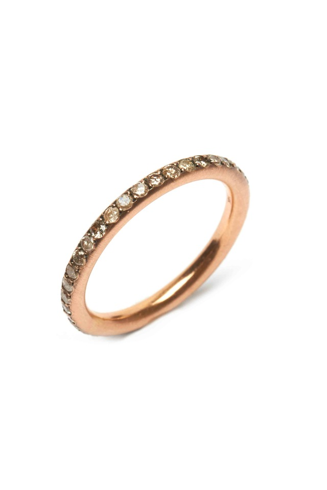 Rose Gold Diamond Tube Ring