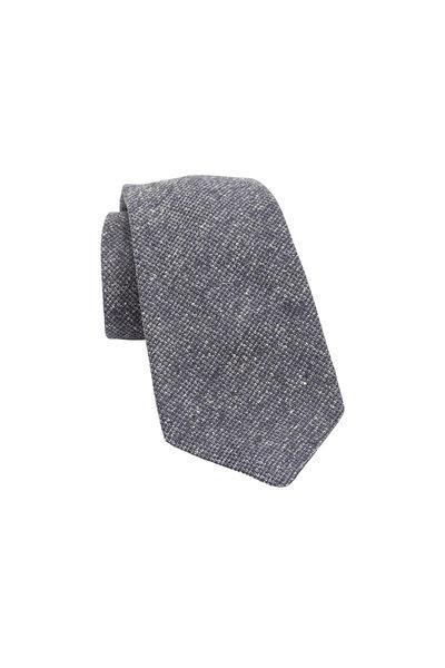 Kiton - Dark Gray Woven Silk Necktie