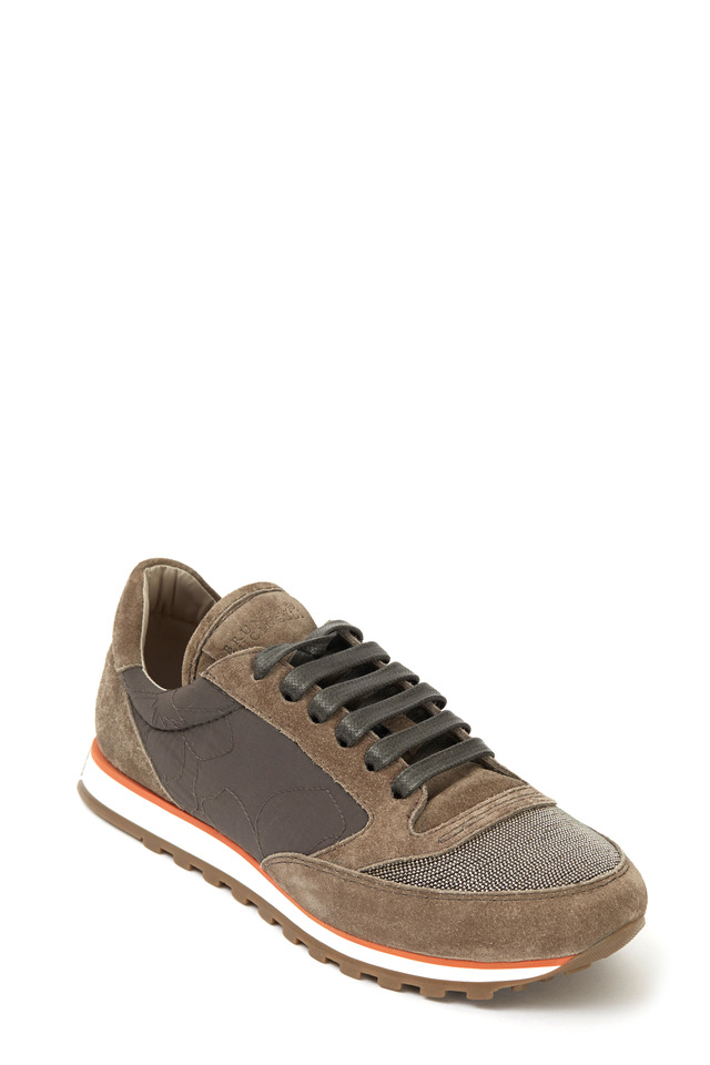 Runner Brown & Gray Suede Sneaker