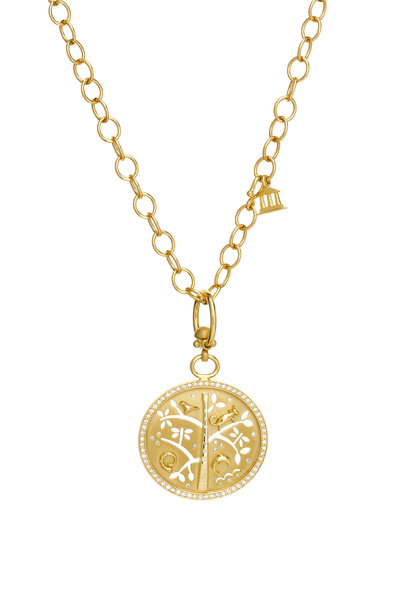 Temple St. Clair - 18K Yellow Gold Diamond Tree Of Life Pendant