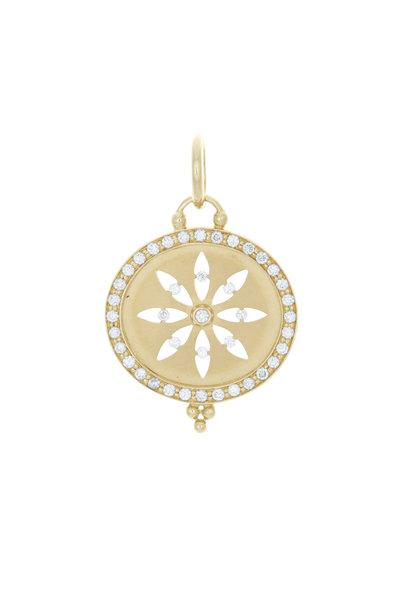 Temple St. Clair - 18K Yellow Gold Diamond Cutout Sorcerer Pendant