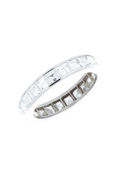 Oscar Heyman - Platinum Diamond Guard Ring