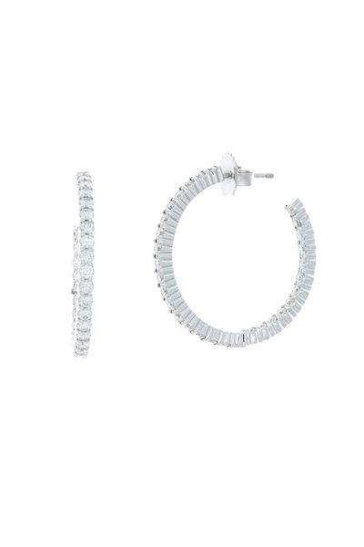 Kwiat - 18K White Gold Diamond Hoops