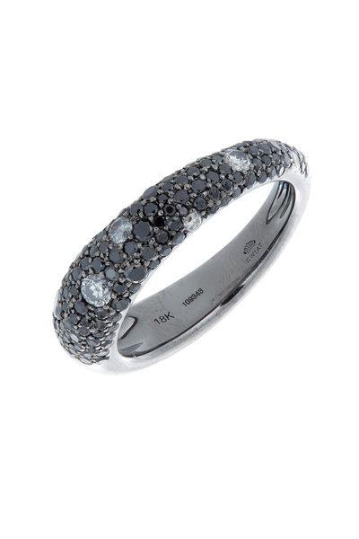 Kwiat - 18K White Gold Black & White Diamond Ring
