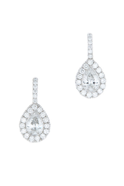Kwiat - Platinum & 18K White Gold Diamond Earrings