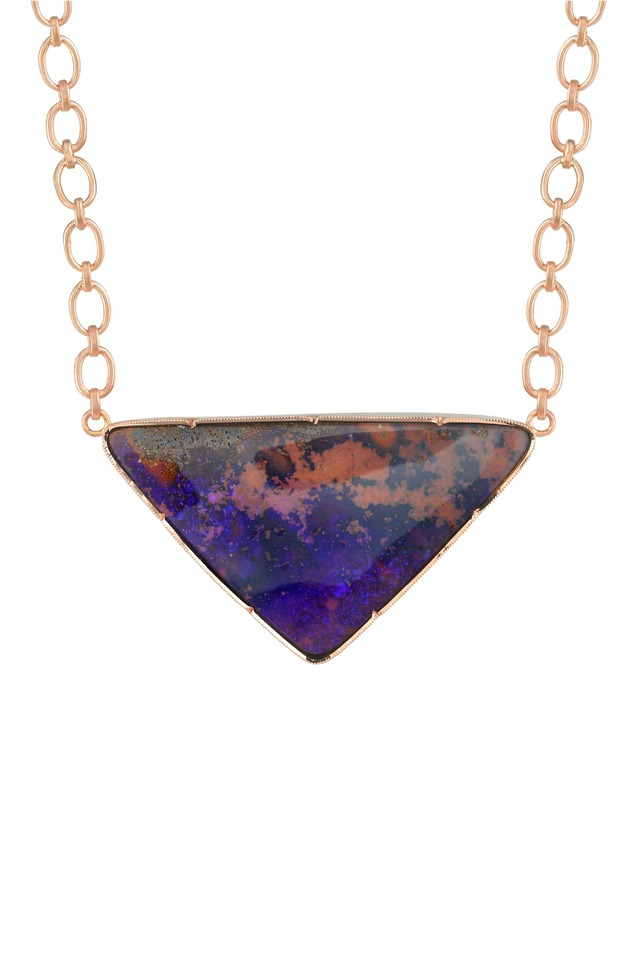 Rose Gold One-Of-A-Kind Boulder Opal Necklace