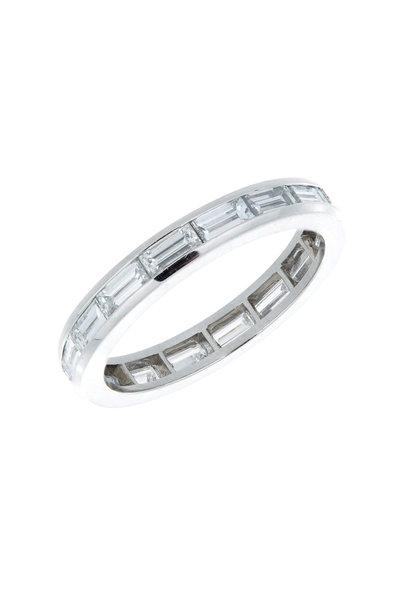 Oscar Heyman - Platinum End To End Diamond Guard Ring