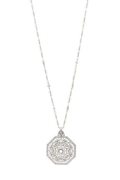 Kwiat - 18K White Gold Diamond Pendant Necklace