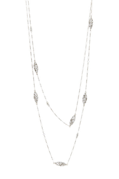 Kwiat - 18K White Gold Diamond Capsule Chain