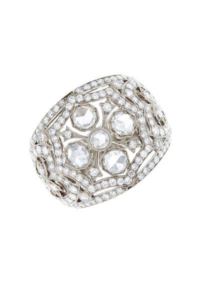 Kwiat - 18K White Gold Diamond Dome Ring