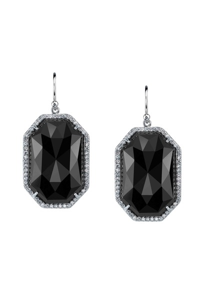 Irene Neuwirth - White Gold Black Onyx Diamond Earrings