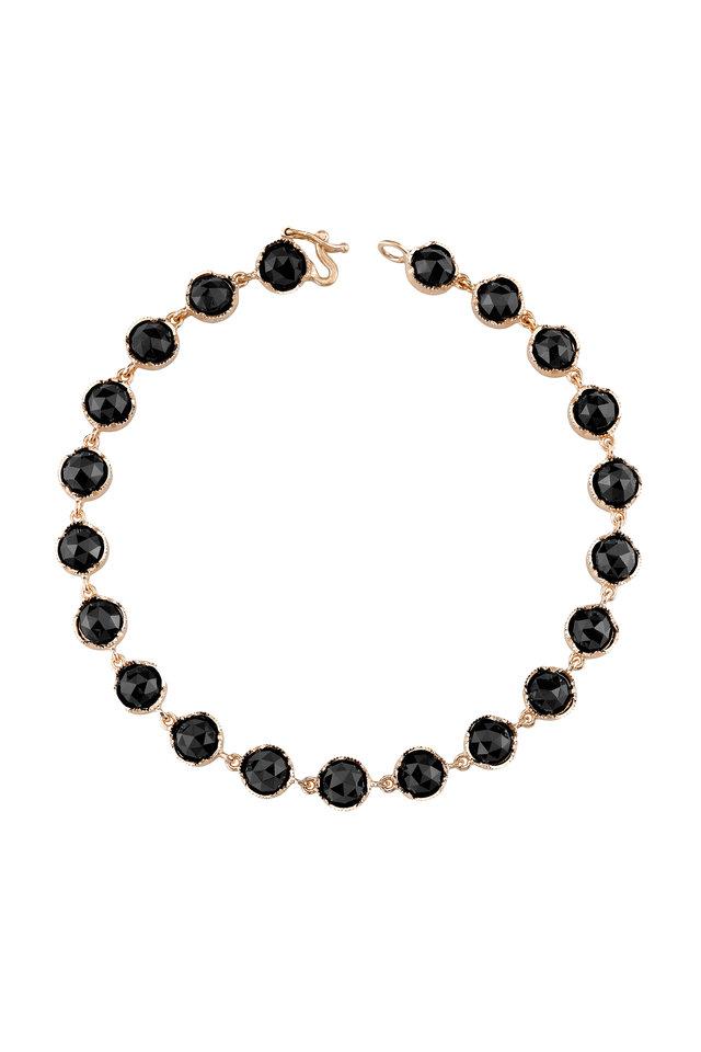 Rose Gold Black Onyx Bracelet