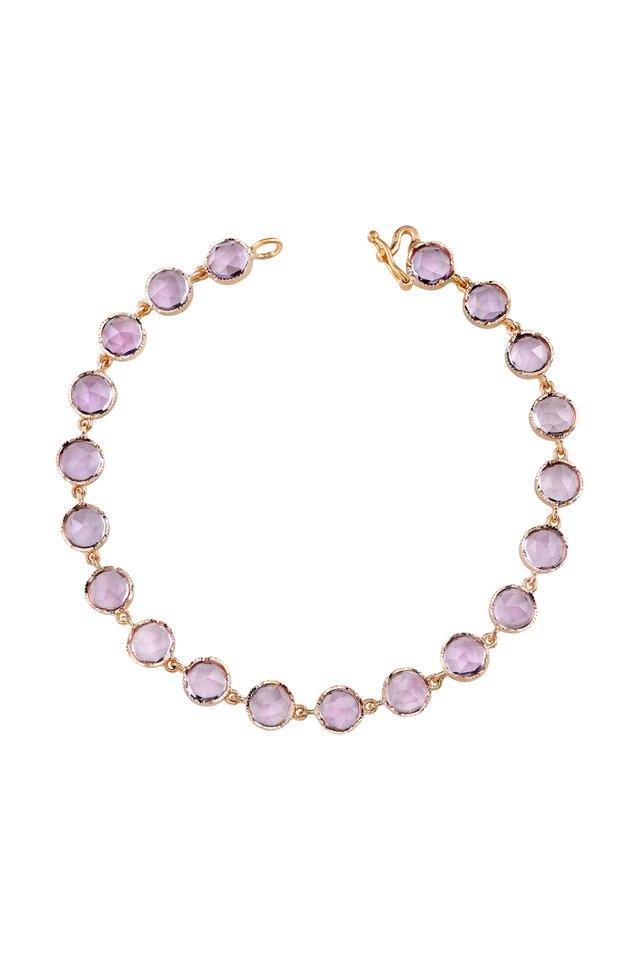 Rose Gold Rose De France Amethyst Bracelet
