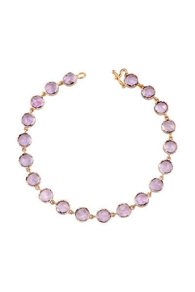 Irene Neuwirth - Rose Gold Rose De France Amethyst Bracelet