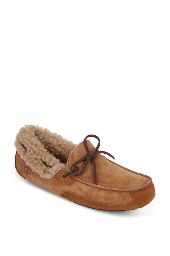 Ugg Fleming Chestnut Suede Shearling Lined Slipper