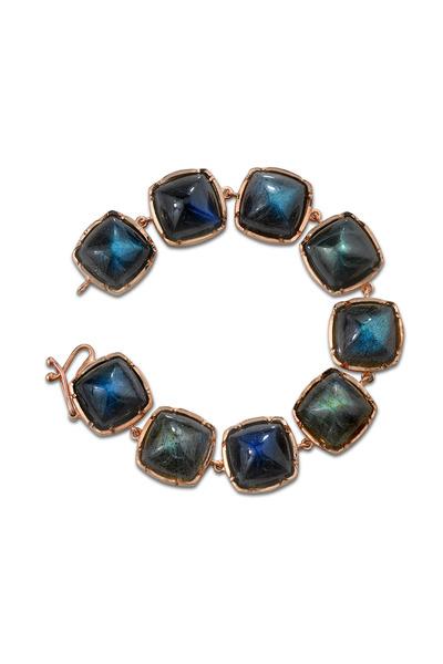Irene Neuwirth - Rose Gold Square Labradorite Bracelet