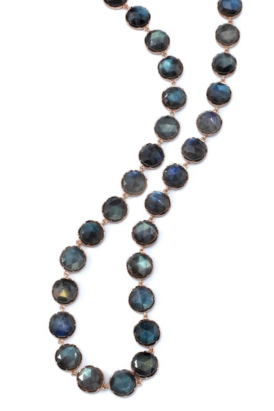 Irene Neuwirth - 18K Rose Gold Rose-Cut Labradorite Necklace
