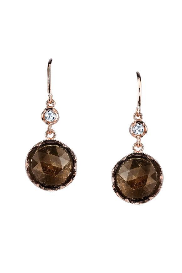 Irene Neuwirth Rose Gold Sapphire & Diamond Earrings