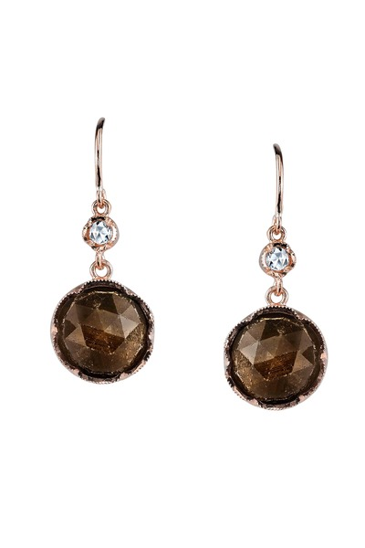 Irene Neuwirth - Rose Gold Sapphire & Diamond Earrings