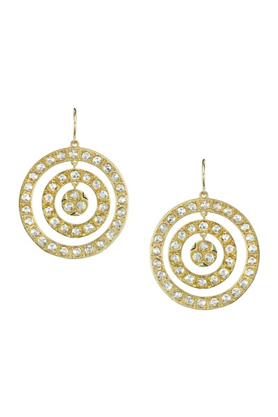 Irene Neuwirth - Gold Triple Circle Diamond Earrings