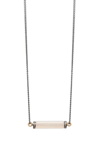 Dana Kellin - 14K Gold & Silver Chalcedony Pavé Diamond Necklace