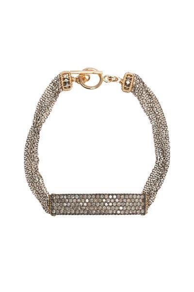 Dana Kellin - 14K Gold & Silver Pavé Diamond ID Bracelet