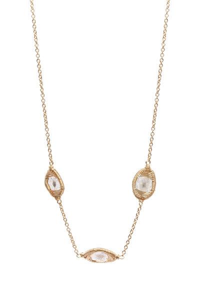 Dana Kellin - 14K Yellow Gold Diamond Slice Necklace