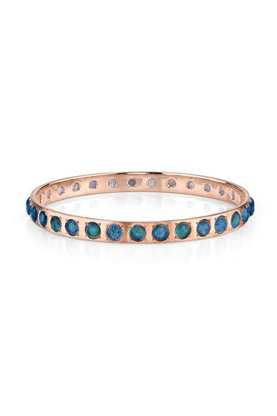 Irene Neuwirth - Rose Gold Labradorite Bangle Bracelet