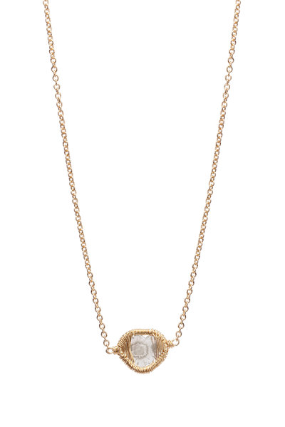 Dana Kellin - 14K Gold & Silver Diamond Slice Pendant Necklace