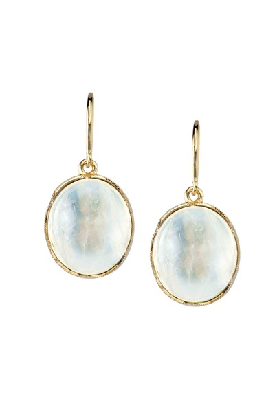 Irene Neuwirth - Yellow Gold Rainbow Moonstone Earrings