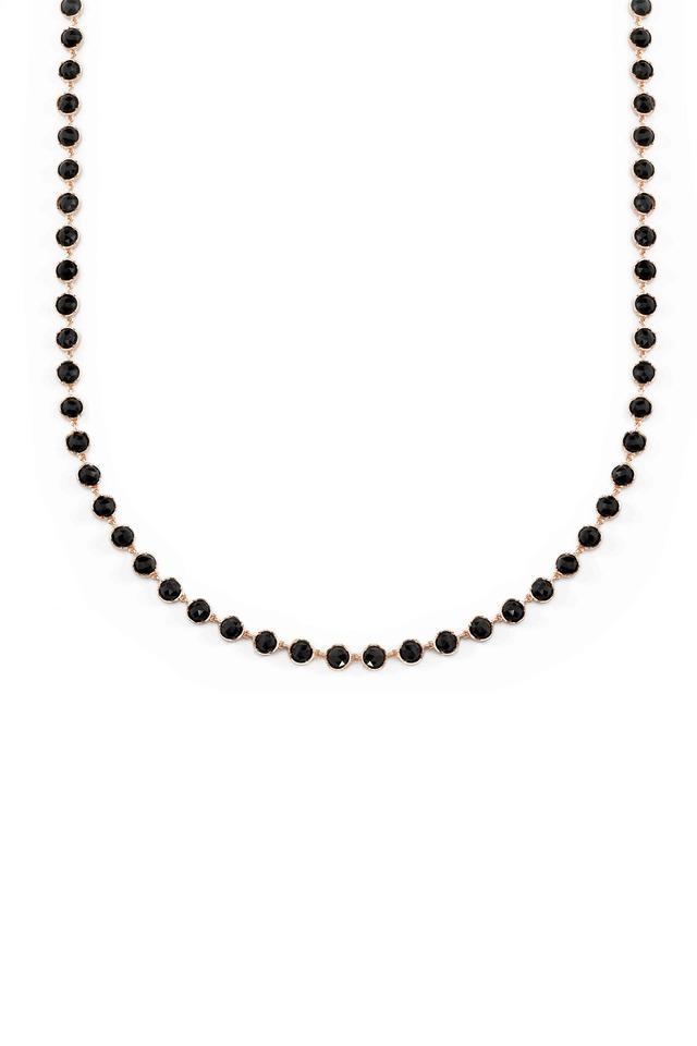 Rose Gold Black Onyx Cabochon Necklace