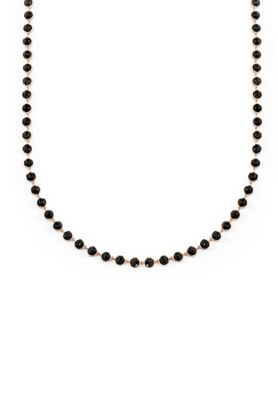 Irene Neuwirth - Rose Gold Black Onyx Cabochon Necklace