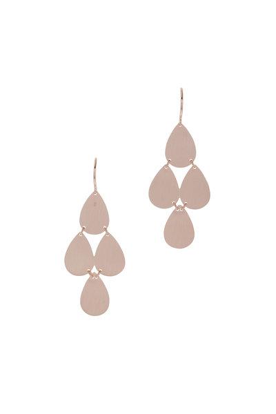 Irene Neuwirth - Rose Gold Teardrop Chandelier Earrings